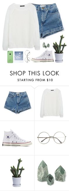 """""""Youth//Troye Sivan"""" by thelonelyheartsclub ❤ liked on Polyvore featuring MANGO, Converse and FUCT"""