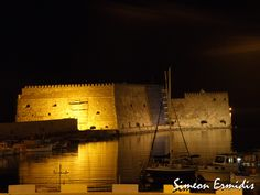 The castle in Heraklion City..... next to the old port.... at night