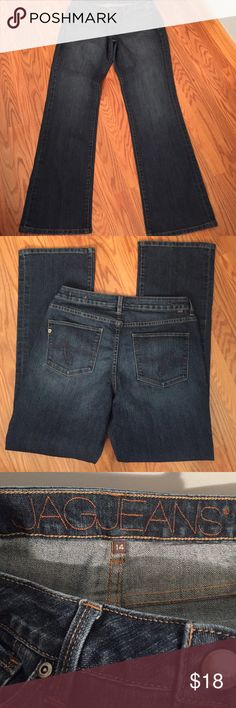 "Jag jeans Jag low rise boot leg jeans, 69% cotton 29% polyester 2% spandex inseam 33"" Jag Jeans Jeans Boot Cut"