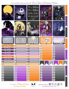 Free Nightmare Before Christmas Printable for the Erin Condren & Recollections Planner - Planner Onelove