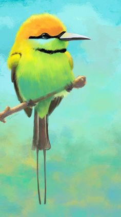Bee-eater by Maszkai.deviantart.com on @DeviantArt