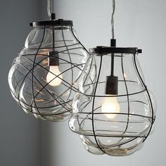 Suzie: Lighting - Organic Blown Glass Pendant | west elm - organic, blown, glass, pendant