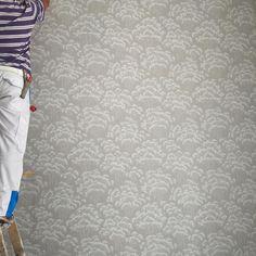 My @farrowandball wallpaper is going up! My painter is so good too, great job so far! #farrowandball