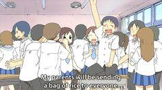 nichijou life anime gif * Anime Mems, Nichijou, Ordinary Lives, Slice Of Life, Normal Life, Hilarious, Funny, Series Movies, Anime Shows