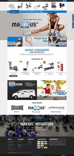 E-Commerce Webdesign made by 4market | www.4market.de/ | Onlineshop für Fitnessgeräte | Maxxus® Fitnessgeräte