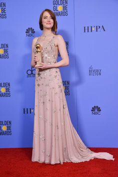 Emma Stone at the 74TH Annual Golden Globe Awards, January 8, 2017