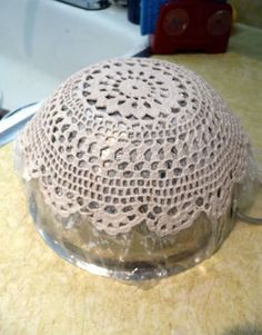Another doily tutorial. This one uses fabric starch instead of wallpaper paste.