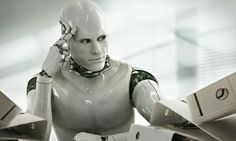 """'Wait, did that computer just blank me?' … thinking robot. Photograph: Blutgruppe/Corbis """"Are we already living in the technological singularity?"""" - via The Guardian.com"""