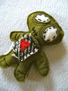 My Lil Zombie Cat Toy- Organic Catnip-Wool Felt