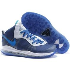 huge selection of e588b 38039 Air Foamposite Nike LeBron 8 Blue White  Nike LeBron 8 - Flexible and lightweight  Nike LeBron 8 Blue White shoes are characterized with a blue upper with ...