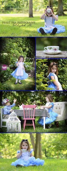 Disney Alice in Wonderland and the Mad Hatter. 3 year old girl photo ideas, one year old boy, sibling photo shoot. Sweet Pea Photography. Norwalk, OH