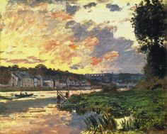 Claude Monet - The Seine at Bougival, Evening