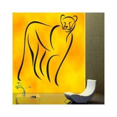 "Style and Apply Abstract Jaguar Wall Decal Size: 55"" H x 46"" W, Color: Beige"