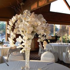 Orchids.. My favorite flowers. Would love to have these center pieces for my wedding