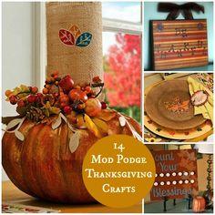 14 Fantastic Mod Podge Thanksgiving Crafts