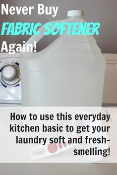 DIY Homemade Fabric Softener for Just Pennies! - The Creek Line House DIY Homemade Fabric Softener for Just Pennies! - The Creek Line Hous. Homemade Cleaning Products, Cleaning Recipes, Natural Cleaning Products, Cleaning Hacks, Household Products, Household Tips, Natural Cleaning Solutions, Eco Products, Household Chores
