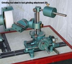 Acto tool & cutter grinder machinery plans includes comprehensive plans, instructions & 45 plus photos. Grinds milling tools, lathe tools & drills etc.