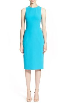 Michael Kors Double Face Stretch Wool Crepe Sheath Dress available at #Nordstrom