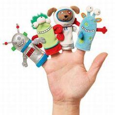 ✄ A Fondness for Felt ✄   felt finger puppets ...