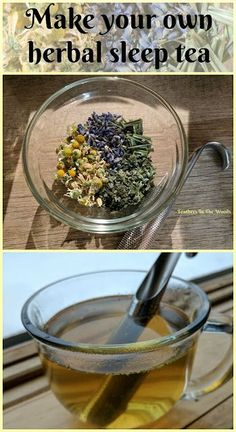 Fall asleep fast! How to make an herbal sleep tea. Feathers in the woods