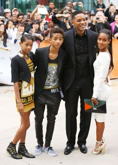 """Will, Jada, Jaden, and Willow Smith were all on the red carpet for   the premiere of """"Free Angela & All Political Prisoners,"""" a   documentary about the civil rights activist Angela Davis. Despite   rumours of divorce (that Jada has since squashed), the clan of actors, singers, dancers, and rappers were all in synch in Toronto on Sunday -- in more ways than one."""