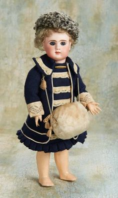 Small Courtesies: 263 French Bisque Bebe by Jules Steiner with Original Signed Body