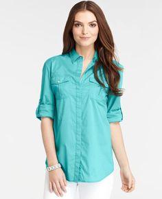 Ann Taylor - Cotton Camp Shirt