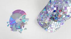 make a disco ball baseball cap from broken recycled CDs! #diy