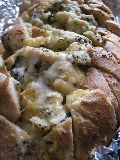 Cheesy, buttery, pull-apart garlic bread.