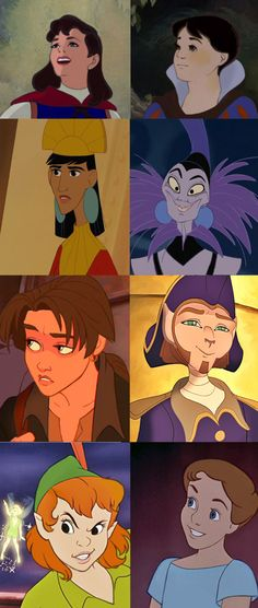 Disney character genderbends by lettherebedoodles