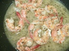 Sautéed shrimp with garlic & white wine sauce - very yummy and easy. Might go with a tiny bit less white wine next time.