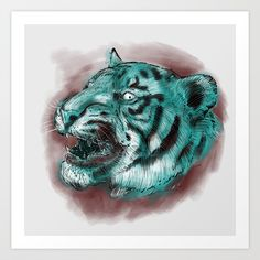 Collect your choice of gallery quality Giclée, or fine art prints custom trimmed by hand in a variety of sizes with a white border for framing. Lion Sculpture, Fine Art Prints, Watercolor, Statue, Gallery, Pen And Wash, Watercolor Painting, Roof Rack, Art Prints