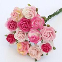 50 Mini Mulberry Paper Flower Wedding Shabby Pink basket doll craft supply for sale online Paper Flowers Wedding, Doll Crafts, Craft Supplies, Shabby, Basket, Dolls, Rose, Mini, Baby Dolls