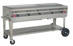 """stainless steel silver giant grill 60"""""""