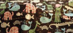 Cotton fabric animal fabric multicolour by DragonflyWorkshopYi, $6.50