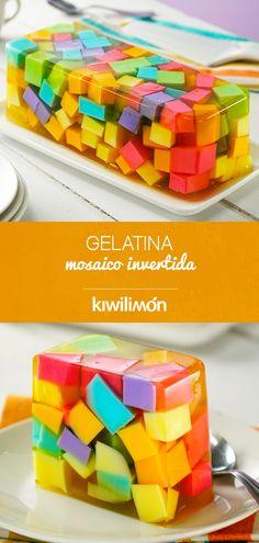 Gelatin Recipes, Jello Recipes, Mexican Food Recipes, Snack Recipes, Dessert Recipes, Cooking Recipes, No Cook Desserts, Sweet Desserts, Sweet Recipes