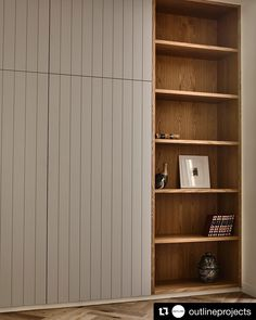Kooyong by Outline Projects & Kennedy Nolan - Arts & Craft Architecture - The Local Project Bedroom Built In Wardrobe, Wardrobe Doors, Closet Bedroom, Built In Wardrobe Ideas Alcove, Office Wardrobe, Wardrobe Storage, Capsule Wardrobe, Hidden Storage, Wall Storage