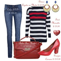 Como usar sapato vermelho: 1 Sapato Vermelho = 4 Looks - How to wear red shoes