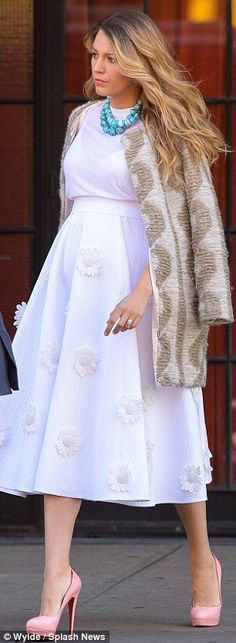 Getting it right: Blake is setting the bar high when it comes to maternity style, being sp...