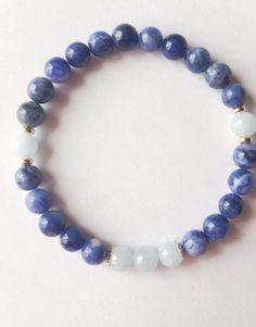Stress Relief & Serenity Bracelet ~ Lapis Lazuli & Aquamarine - A Peace of Mind