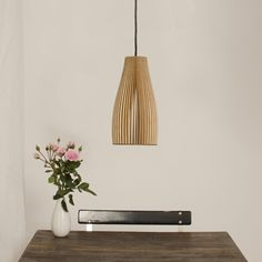 Ena Lamp by iumi - Eco-friendly and sustainable lamps made in the heart of Berlin Wood Lamps, Pendant Lights, Floating Nightstand, Lamp Light, Creative Design, Eco Friendly, Berlin, Lighting, Heart