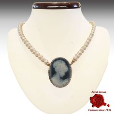 Let's make it a #Blue Elegant #Friday! Blue #Agate #Cameo #Brooch & #Pendant, two pieces of #jewelry in one, sterling #silver set. Totally #Handmade in #Italy by #ErediJovon #MadeInItaly #Venice Simply Elegant ! https://loom.ly/TEt6qnM