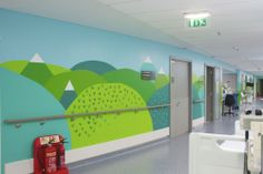 Donna Wilson and her team create an installation and mural in one of the children's wards at the Royal London Hospital - these are photos of the work in progress.