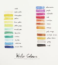 water colours.