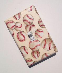 Baseball Nursery Decor / Light Switch Plate Cover / by SSKDesigns, $16.00