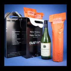 There is still time to order your branded promotional gifts before Christmas.   We are specialists in creating any shape bespoke packaging to carry bottles of wine or any other personalised product you want to send out to your customers. #promotionalpackaging #labels #nottinghamuk www.cushionprint.co.uk