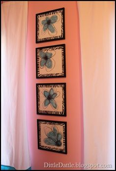 Very cute idea for a teen girl's room. I love the display - even for a small wall.