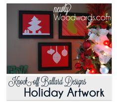 Make your own holiday artwork inspired by Ballard designs. #christmas #diy #artwork
