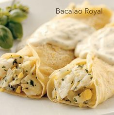 crepes-of-cod-royal - Postres - Tapas, Crepe Recipes, Cod, Snack Recipes, Chips, Chicken, Vegetables, Ethnic Recipes, Life