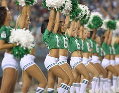 Philadelphia Eagles cheerleaders - rockin' the  kelly green.